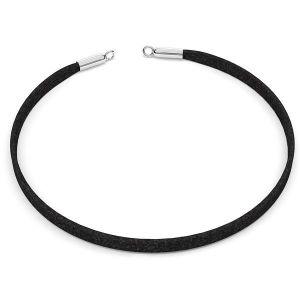 Choker alcantara base della collana S-CHAIN 25 - 36 cm