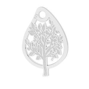 Foglia farfalla pendente, argento 925, LK-1473 - 0,50