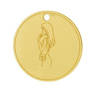Vergine pendente zodiaco, argento 925, LK-1452 - 0,50