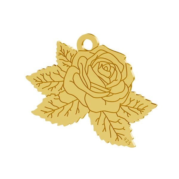 Rosa pendente, argento 925, LK-1476 - 0,50