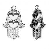 Mano di hamsa pendente, argento, ODL-00440