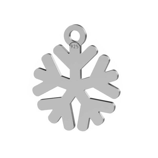 Fiocco di neve pendente argento, LK-1533 - 0,50