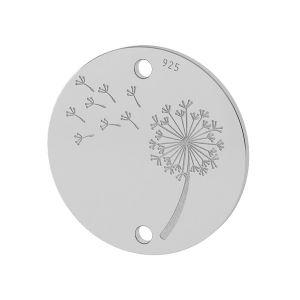 Dente di leone pendente argento 925, LKM-2027