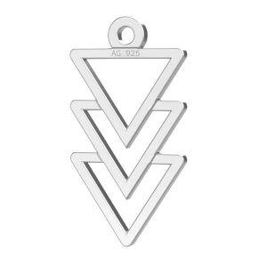 Triangolo pendente argento 925, LKM-2036
