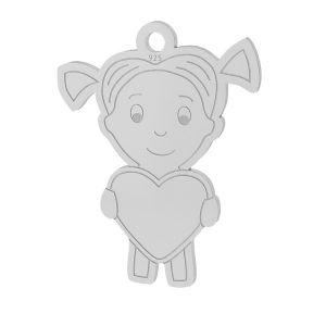 Ragazza cuore pendente argento 925, LKM-2047