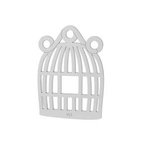 Gabbia per uccelli pendente argento, LKM-2094 - 0,50