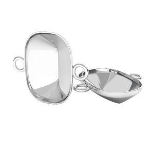 Ciondolo d'argento Cushion Fancy Stone base, OKSV 4568 MM 14,0X 10,0 CON 2