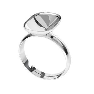 Squillare d'argento Cushion Fancy Stone base, OKSV 4568 MM 14,0X 10,0 S-Ring Universal