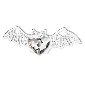 Pipistrello pendente argento, LK-1562 - 0,50 ver.2