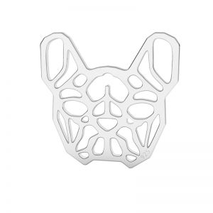Bulldog francese pendente argento, LK-1557 - 0,50
