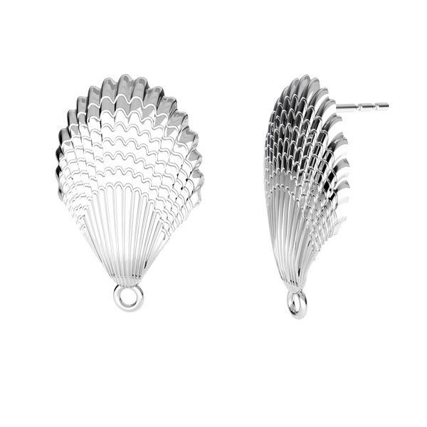 Conchiglia orecchini, argento 925, ODL-00515 KLS