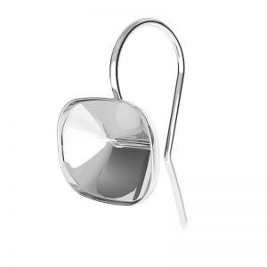 Orecchini d'argento Cushion Fancy Stone base, OKSV 4568 MM 14,0X 10,0 BO ver.2