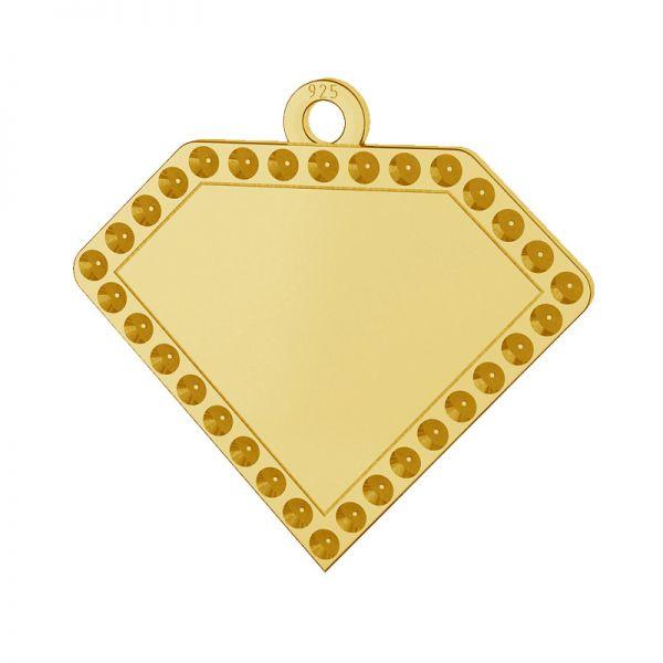 Diamante pendente argento 925, LKM-2142 - 0,80 (1028 PP 4)