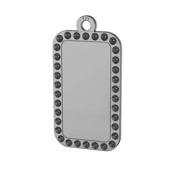 Rettangolo pendente argento 925, LKM-2140 - 0,80 (1028 PP 4)