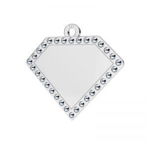 Diamante pendente argento 925, LKM-2142 - 0,80 ver.2