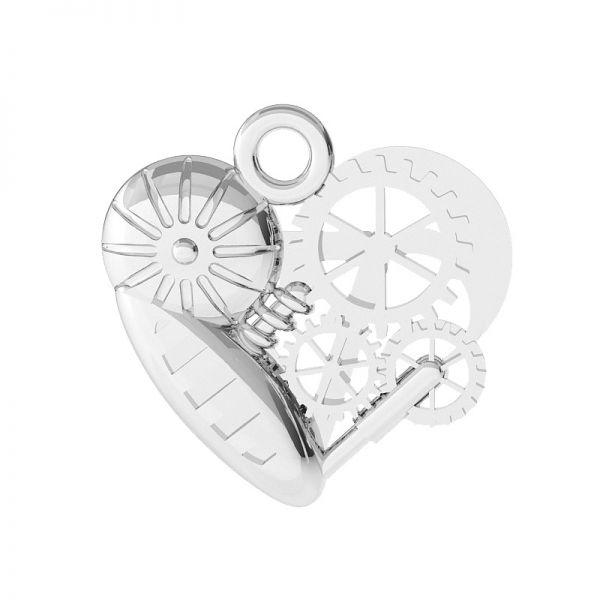 Cuore meccanico pendente argento, ODL-00521