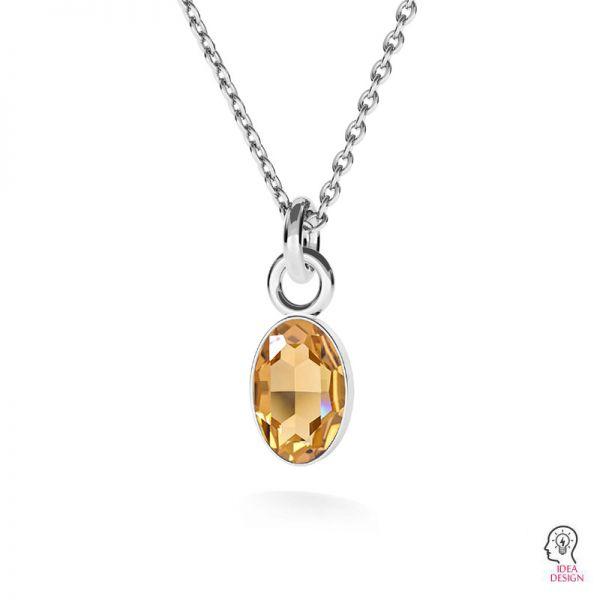 Argento pendente base di cristalli Swarovski, OKSV 4122 MM  8,00 CON1