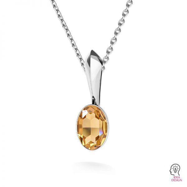 Argento pendente base di cristalli Swarovski, OKSV 4122 MM  8,00 KRP
