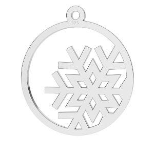 Fiocco di neve pendente argento, LKM-2257 - 0,50