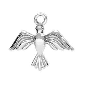 Ciondolo uccello argento, argento 925, ODL-00608