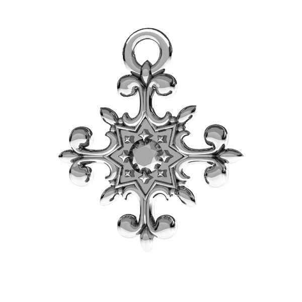 Crocifisso pendente, argento 925, ODL-00599