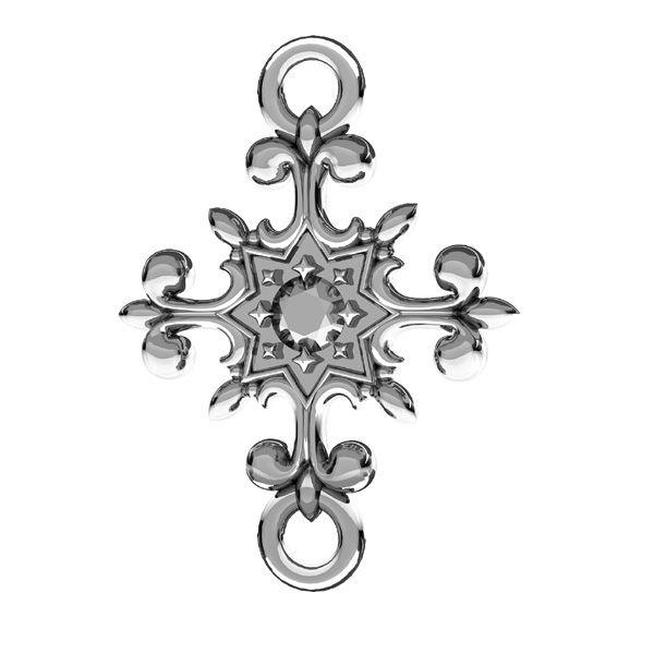 Crocifisso pendente, argento 925, ODL-00600