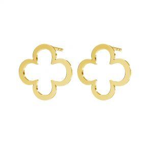 Trifoglio orecchini, argento 925, KLS LKM-2291 - 0,50 13x13 mm