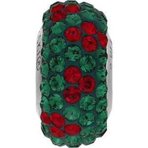 82072 BeCharmed Pavé Noel Bead - Emerald, Light Siam
