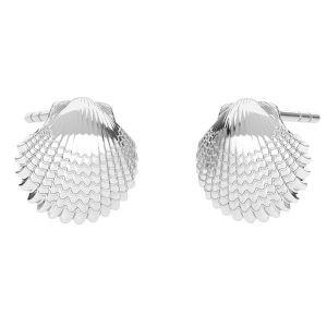 Conchiglia orecchini, argento 925, ODL-00664 KLS