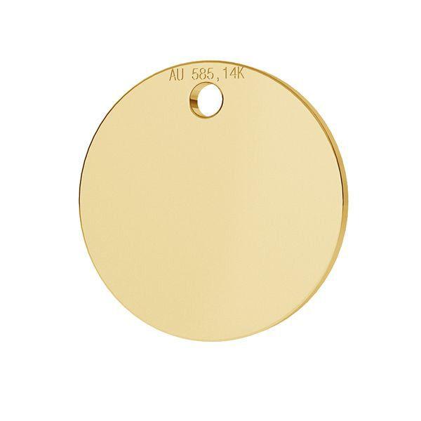 Tag rotonda pendente oro 14K LKZ-00025 - 0,30 mm