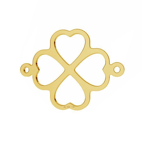 Trifoglio pendente *oro AU 585 14K*LKZ-50012 - 03