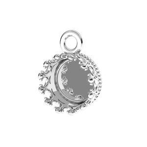Pendente tondo per resina, argento 925, FMG ROUND 7 MM CON 1 - 2,10 MM
