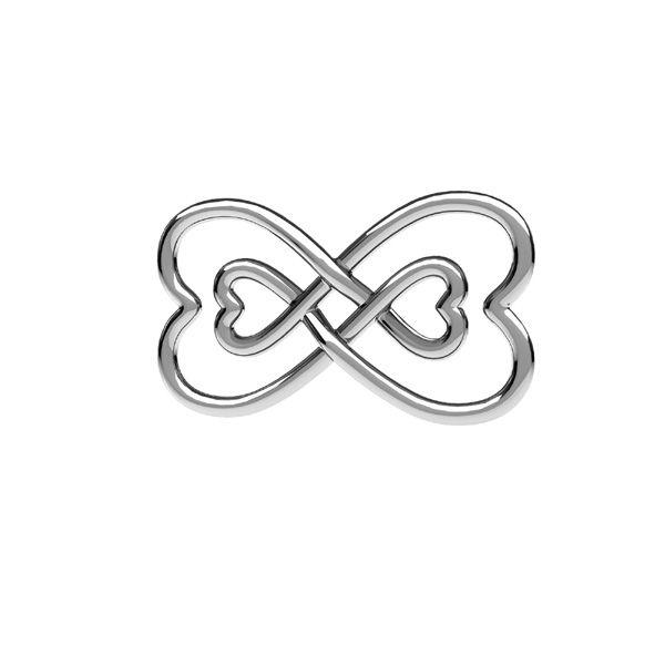 Segno di infinito ciondolo, ODL-00674 11x20,5 mm