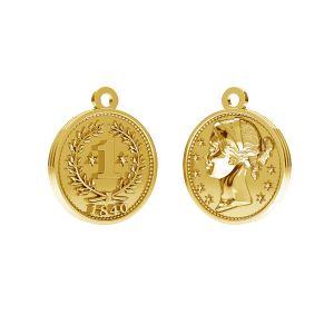 Moneta pendente, argento 925, ODL-00012