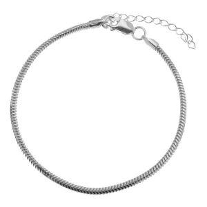 Catena bracciale*argento 925*HAND BASE CSTD 2,4 (18 + 4 cm)