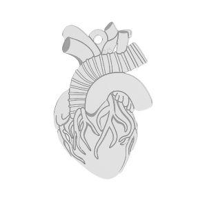 Cuore pendente argento 925*LKM-2370 - 0,50 14x21,6 mm
