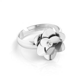 Rosa anello*argento 925*U-RING ODL-00041