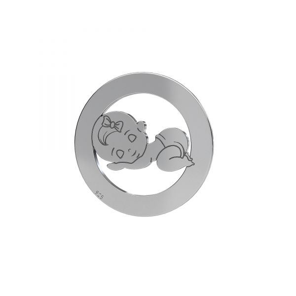 Ragazza pendente*argento 925*LKM-2360 - 0,50 17,5 mm