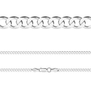 Catena Cordolo*argento 925*PD 120 6L (45 cm)
