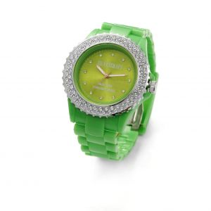 GREEN MONTRE WATCH BRACELET WITH SWAROVSKI - MODEL 443