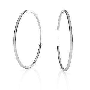 Orecchini a cerchio*argento 925*KL-350 1,5x50 mm