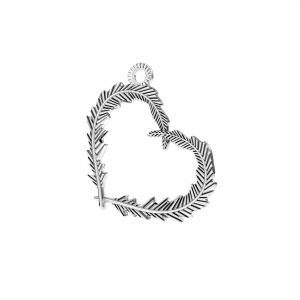 Cuore piuma pendente*argento 925*ODL-00723 18,6x22 mm