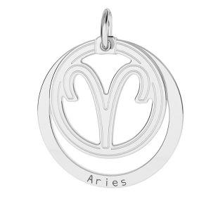 Toro pendente zodiaco, argento 925*LKM-2584 - 0,50 18x22 mm