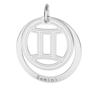 Gemelli pendente zodiaco*argento 925*LKM-2585 - 0,50 18x22 mm