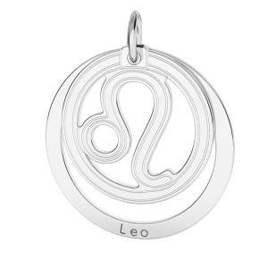 Leone pendente zodiaco*argento 925*LKM-2587 - 0,50 18x22 mm