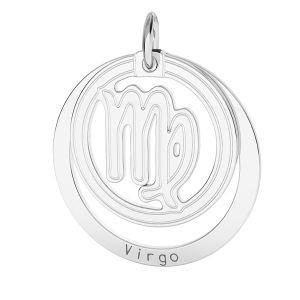 Vergine pendente zodiaco*argento 925*LKM-2590 - 0,50 18x22 mm