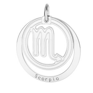 Scorpione pendente zodiaco*argento 925*LKM-2592 - 0,50 18x22 mm