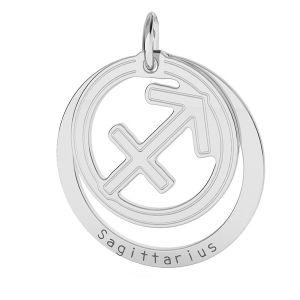 Sagittario pendente zodiaco*argento 925*LKM-2593 - 0,50 18x22 mm