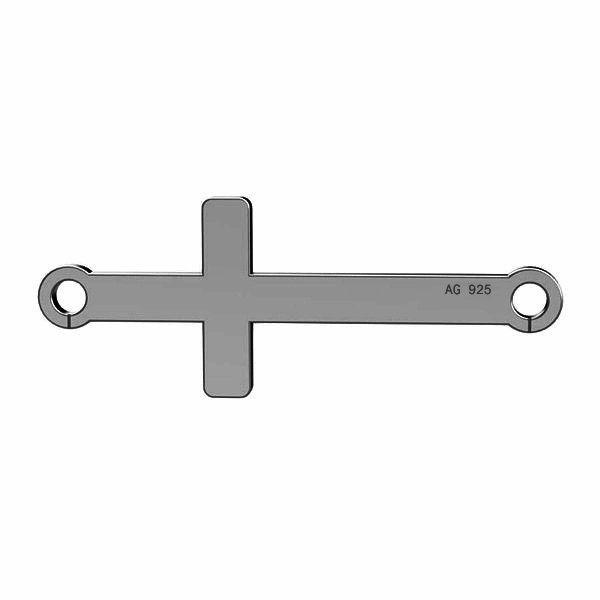 Croce orizzontale pendente argento 925, LKM-2022