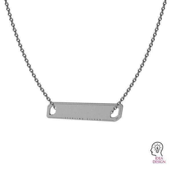 Rettangolare pendente argento 925, LKM-2016